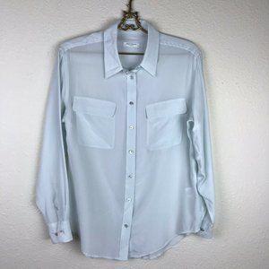 Equipment Signature Shirt Light Blue 100% Silk